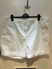 NEW M&S Collection White Cotton Shorts. Size 22UK.