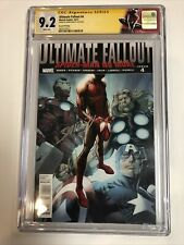 Ultimate Fallout (2011) # 4 (CGC SS 9.2 WP) 1st App Miles Morales Signed Bagley