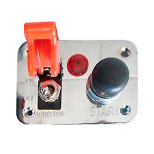 Competition Switch Panel 3 Hole Starter Push Button Ignition Switch & Light