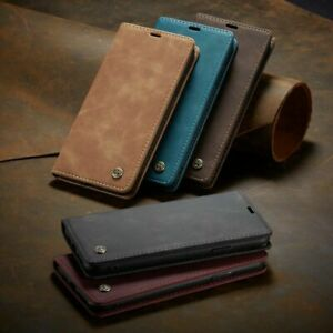 For Samsung S20 Ultra, S20, S10 Plus Magnetic Leather Wallet Card Case Cover