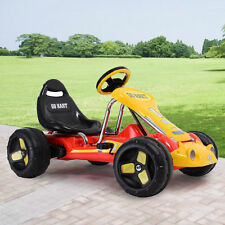 Red Go Kart 4 Wheel Kids Racer Ride Outdoor on Stealth Pedal Powered Car Racer