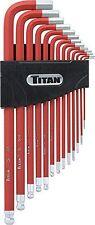 Titan Tools 12713- 13pc Extra Long Ball Tip SAE Hex Set