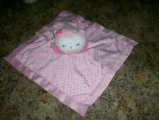 Child Of Mine Owl Security Blanket Pink Hearts Rattle Lovey Carter's