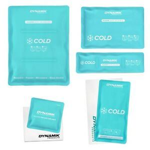 Reusable Hot/Cold Gel Ice Packs for Pain Relief with Sleeve - Small-XL