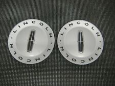 2003-2005 LINCOLN LS OEM WHEEL CENTER CAPS PART 3W43-1A096-AB PAIR SATIN FINISH
