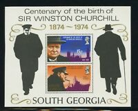 South Georgia Scott #40a MNH S/S SIR Winston Churchill Birth Centenary CV$6+