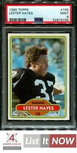 1980 TOPPS #195 LESTER HAYES RC RAIDERS PSA 9 A3155971-195