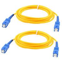 2 Pcs Mode Simplex simple SC vers SC Male cable de raccordement fibre optique XH