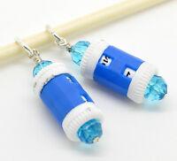 4 Blau Maschenmarker Maschenmarkierer mit Universal-Reihenzähler Zählwerk 7mm