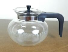 Bunn Coffee Carafe Round Glass Replacement 8 Cup Pot Black Unique Snap on Lid