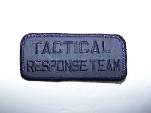 NEW Law Enforcement Military TACTICAL RESPONSE TEAM Subdued Urban Grey Blk PATCH