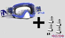 Rip N Roll Hybrid Fully loaded Motocross Race XL Goggles - Nobo Blue + Roll Film