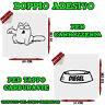 2x Sticker Adesivo Decal Gatto Ciotola Diesel Rifornimento Tappo Auto Tuning