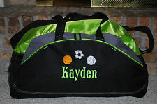 Custom Design Personalized Duffel with a Embroidered Gym Travel Sports bag Large