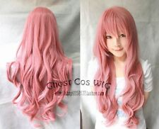 80CM Vocaloid Luka Ruka Magnet Long wavy pink color Cosplay Wig Free Shipping