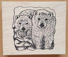Mounted Rubber Stamps, Alaska, Alaskan Wildlife, Animals, Polar Bear Cubs, Bears