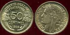 50 centimes MORLON 1939 NEUVE SORTIE DU ROULEAU