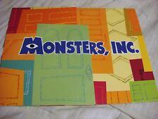 Disney Store/Pixar Monster's Inc Limited Edition Lithograph Set with Portfolio