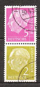 BRD 1955 Zd- Mi. Nr. S 19 179+177 Zusammendruck Gestempelt (7438)