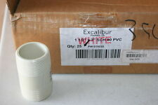 """One Box of 25 Excalibur 1-1/2"""" x 3"""" Sch 80 Pvc Machined Nipple Pipe Riser"""
