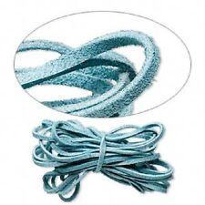 2641BS Cord Faux Vegan Leather Necklace Bracelet Suede Lace Turquoise Blue 30 ft