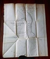 1849 Map Mouth of the Grand River Grand Haven Lake Michigan Col. J.J. Abert