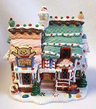 "Lemax Sugar N Spice Toy Chest Porcelain Village Light Up House Original Box 6.5"""
