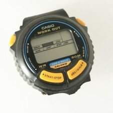 Casio Work Out JC10 Men's Vintage Digital Jog & Walk Watch Black Resin