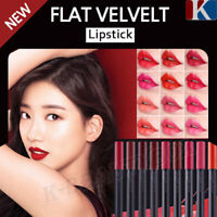THE FACE SHOP Perfectly Flat Velvet Crayon Lipstick Long Lasting Vivid HD Colors
