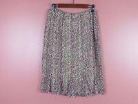 SK06565- NEW JONES NEW YORK Woman 100% Silk Paneled Pencil Skirt Multi-Color 6