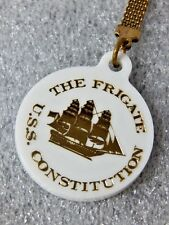 Vintage The Frigate USS Constitution Old Itronsides Boston Mass Key Chain Charm