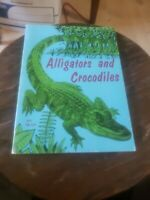 """Alligators and Crocodiles""  by Herbert S. Zim  1971 Paperback Vintage K23"