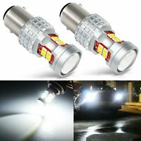 2 pairs 1157 Samsung 3030 SMD 1200LM  high power LED White Yellow Switchback