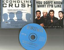 ECONOLINE CRUSH You don't know what it's like w/ RADIO EDIT PROMO DJ CD single