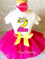 Minion Birthday Shirt Tutu Outfit Set Party EMBROIDERED 1st 2nd 3rd