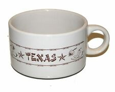 Texas Arma Dilli Chili Bowl Armadillo Polly's Paint Box Western Rope Star Chilli