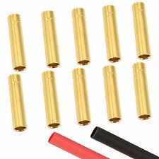 10 X Rc 4 Mm Hembra Oro Conector de bala + Calor Shrink Batería Lipo CES Motor