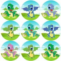 144 Baby Dragons 30 mm Reward Stickers for School Teachers, Parents, Nursery