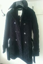 GANT _ trench giacca donna quilted trapuntata velluto nero _ NUOVA