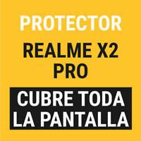 Sentete® REALME X2 PRO Protector COMPLETO Cristal Templado PREMIUM