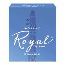 Rico Royal Bb Clarinet Reeds Strength 2.5, Box of 10
