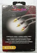 ROCKETFISH 4FT./1.2M COMPOSITE VIDEO / STEREO AUDIO CABLE - RF-G1201