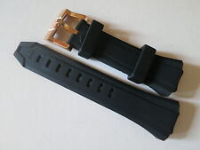 Original 15mm (40mm) Technomarine cruise Rubber Watch strap Band @ Black