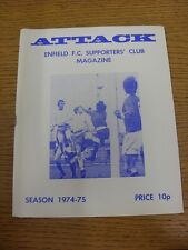 1974/1975 Enfield Supporters Club Magazine Vol: 5 No: 4 .  This item is supplied