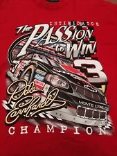 "2000 Budweiser Dale Earnhardt #3 NASCAR T-Shirt Men's SZ MED ""A Passion To Win"""
