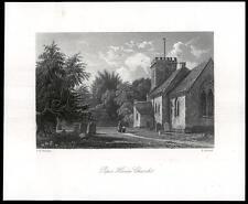 1850 Surrey-Original Antigua de impresión Peper Harow Iglesia Milford Godalming (39)