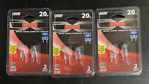 3-pack Brand New XENON 20 watt 120 volt Halogen G8 Base 2 Bulbs Feit Electric