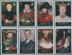 Solomon Islands 2010 SG1281-1288 Kings and Queens of England part 3 set MNH