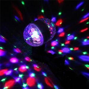E27 DOPPIA LAMPADA LED ROTANTE DISCOTECA PARTY RGB MULTICOLORE PROIETTORE LUCI