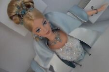 Crystal Jubilee With White Satin Opera Coat Tiara Barbie Doll in a Shipper